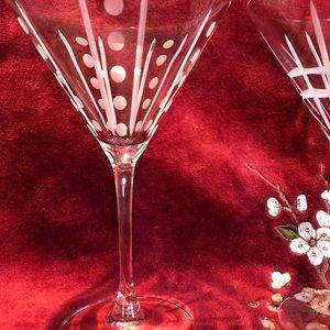 Crystal martini glasses